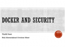 Null Ahmedabad Session - Docker and Security